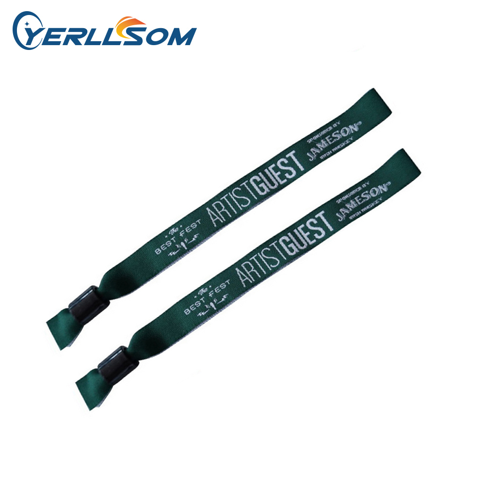 YERLLSOM 400PCS lot Customized Personalized printing logo fabric wristbands bangles for gifts Y061504