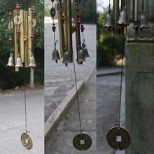 Outdoor Antique Amazing Grace Deep Resonant 4 Tube Windchime Chapel Church Bells Wind Chimes Door Hanging New Year Decor