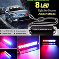 High Power 8 LED Car Emergency Beacon Warning Light Bar 12V leds Strobe Flash Light Universal Fit Hazard SUV Offroad Truck CE001
