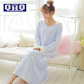 Падение толстые коралловые бархат халат халат прекрасный женский Японский длинными рукавами пижамы ночной рубашке костюм