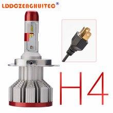 цена на LDDCZENGHUITEC Auto Car H4 H7 LED Headlights 6500K 6000LM 64W 12V COB Bulbs Hi Lo beam 2 / 3 Diodes White Automobiles Near Far