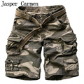 2017 Summer Men's Cargo Work Casual Bermuda Shorts Men Fashion Overall Trousers Plus size Loose Five Minutes Beach Shorts 75wy