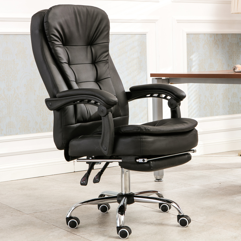 High Quality PU Reclining Office Chair Soft Household Casual Chair with Footrest Lifted and Rotation Massage Chair Swivel Chair