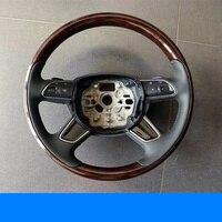 Wielofunkcyjna kierownica do samochodu drewno brzoskwiniowe kierownica do audi A6 C7 4G w Kierownice i klaksony od Samochody i motocykle na