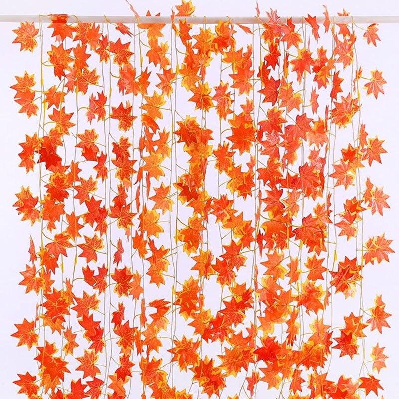2 pçs/lote 2.3 metros Windowill Autumn Leaves Garland Maple Leaf Vine Falso Folhagem Jardim Para A Festa de Casamento Decoração de Casa