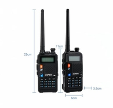 Baofeng UVT2 R9 walkie talkie dual band 136 174mhz 400 520mhz 2800mAh batterie 128CH USB direkt ladegerät two way radio