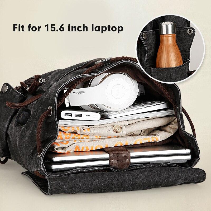 Muzee collège sac à dos hommes USB Port de charge Anti-vol Bookbag 15.6 pouces sac à dos pour ordinateur portable école hommes voyage Daypack 1883 - 4