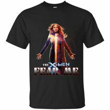 Love Jean Grey Dark Phoenix T-shirt Xmen Fan Marvel Movie Clothes Back Navy Tee Pre-Cotton Shirt For Men