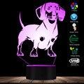 Dackel Hund Rasse 3D Optische illusion Lampe Handgemachte Lampe Wurst Hund Pet Puppy LED Nacht Licht Mit Farbwechsel Visuelle lampe-in Neuheit Beleuchtung aus Licht & Beleuchtung bei