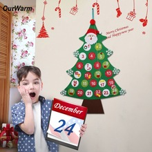 OurWarm 24/31 Numbers Hanging Wall Christmas Advent Calendar Christmas Tree Countdown Calendar Christmas Decoration For Home все цены