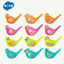 12pcs/Lot Wholesale Baby Toys Creative Painting Bird Whistle Wind Instrument Infant Early Childhood Educational Musical Toy
