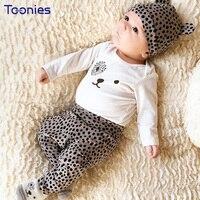 Babies Suit Long Sleeves Newborn Sportswear Spring Autumn Cotton Children Clothing Sets Cute Cartoon Print Kids