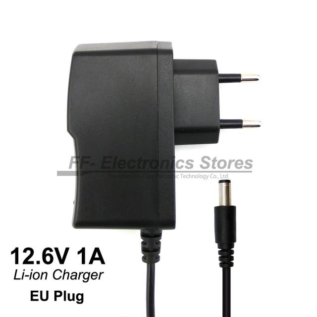 Бесплатная доставка 12,6 В в 1 Литий-полимерный аккумулятор зарядное устройство В 12 В зарядное устройство DC головка 5,5*2,1 мм