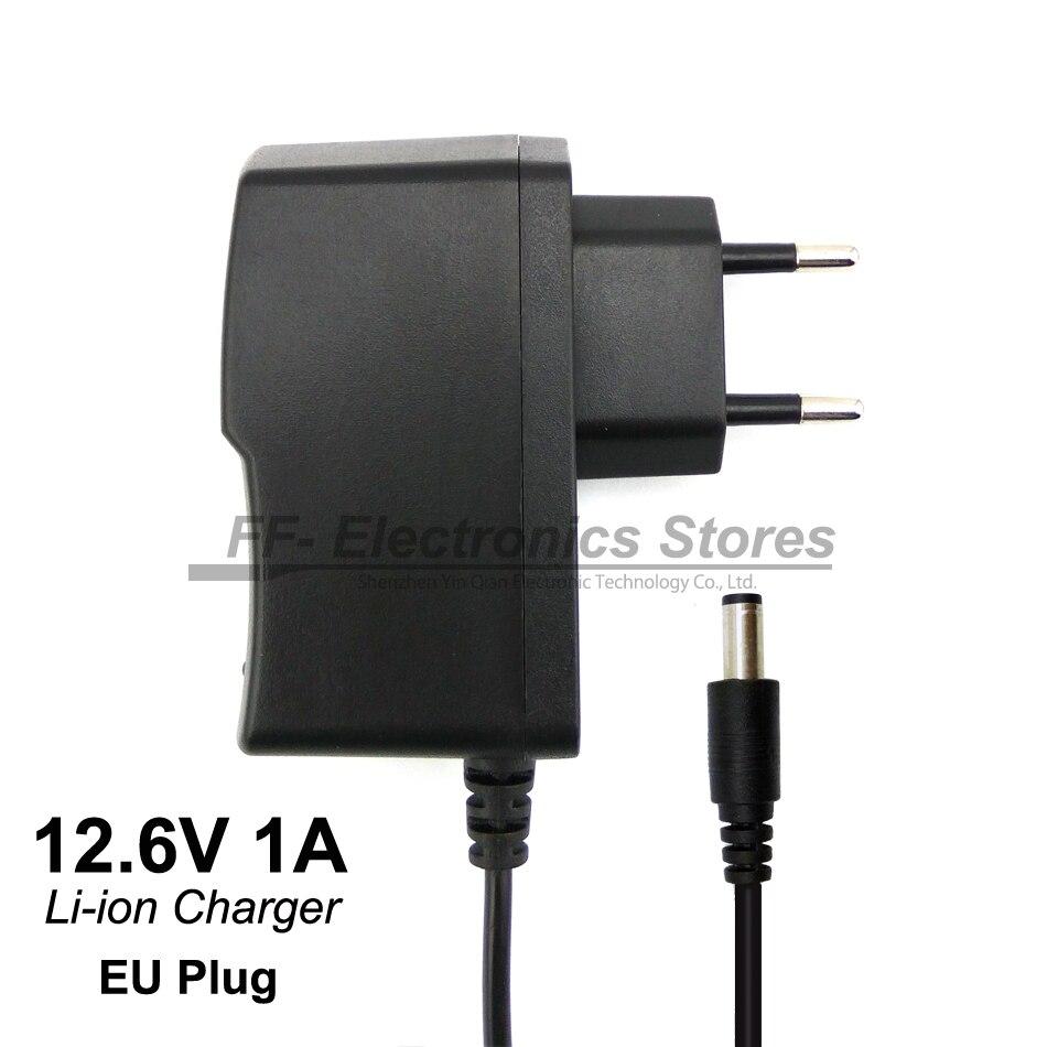 56d67ea385b Compra gratuita 12,6 V 1 A cargador de batería de polímero de litio 12 V  cargador DC cabeza es 5,5mm 2,1