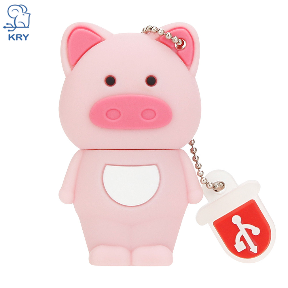KRY Cartoon Animal Pet Series 2.0 Flash Memory 4GB 8GB 16GB 32GB 64GB Portable Pendrive  ...