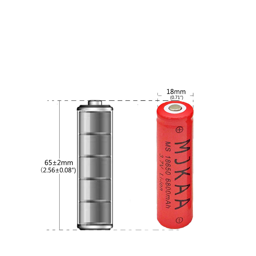 MJKAA 10pcs/lot 18650 battery 3.7v 6800mAh Li-ion Rechargeable Battery for Flashlight camping hiking 3.7v Li-ion 18650 batteria
