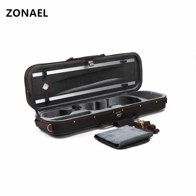 ZONAEL Black Full Size 4/4Portable Violin Case Cover Fiddle Box Bag with Red Velvet For Violin Parts Accessories VPH003 набор твое комплект носков