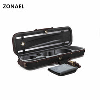 ZONAEL Black Full Size 4/4Portable Violin Case Cover Fiddle Box Bag with Red Velvet For Violin Parts Accessories VPH003