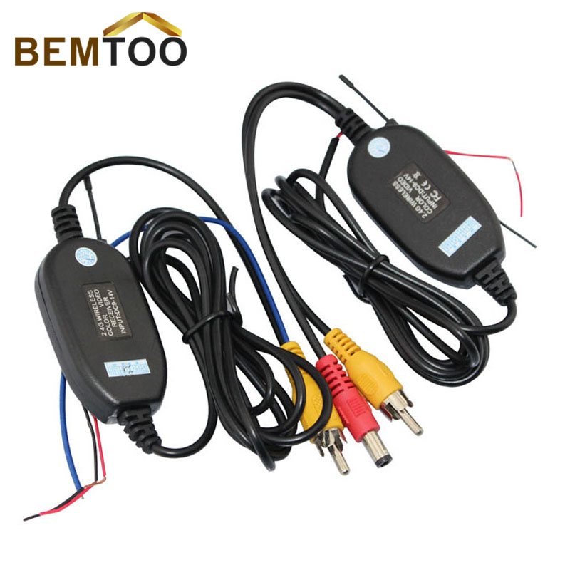 BemToo 2.4G Wireless transmitter and receiver Module adapter for Car Reverse Rear View Camera cam with trigger wire,FreeShipping