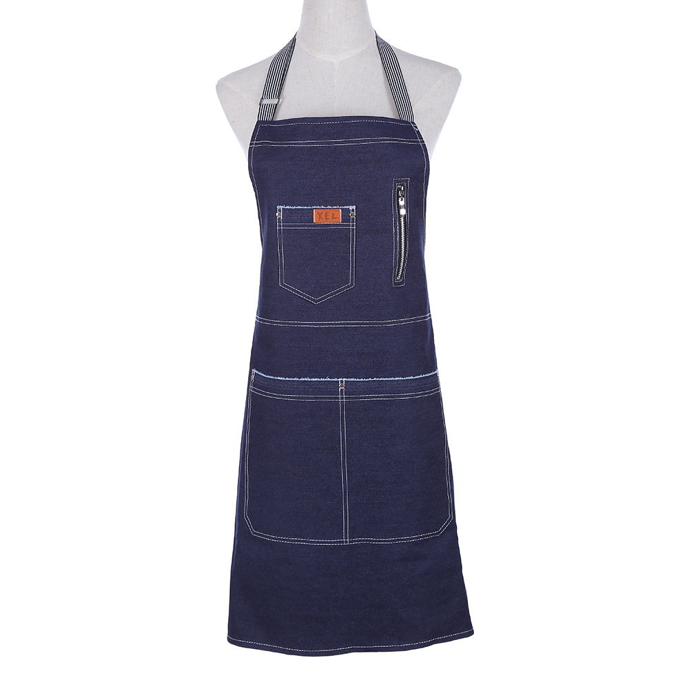 New Simple Denim apron for the kitchen Unisex Cooking aprons bib Restaurant delantal cocina Pinafores Tablier work uniform