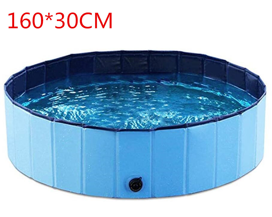 160*30cm Large Hard Plastic Foldable Collapsible Paddling Dog Pet Pool Foldable Pet Dog Swimming House Bed Summer Pool