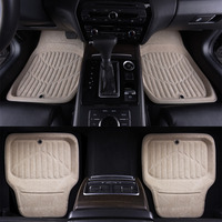 Car Pass Beige Car Floor Mats Universal 4 Pieces Front Rear Floor Mats Universal Anti Slip