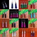 2017 Fashion Luxury  turquoise tassels Drop earrings vintage europe gold plating for women jewelry turquoise Drop earrings