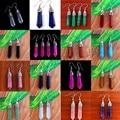 2017 Fashion Luxury  turquoise tassels Drop earrings vintage europe gold plating for women jewelry turquoise Drop earrings