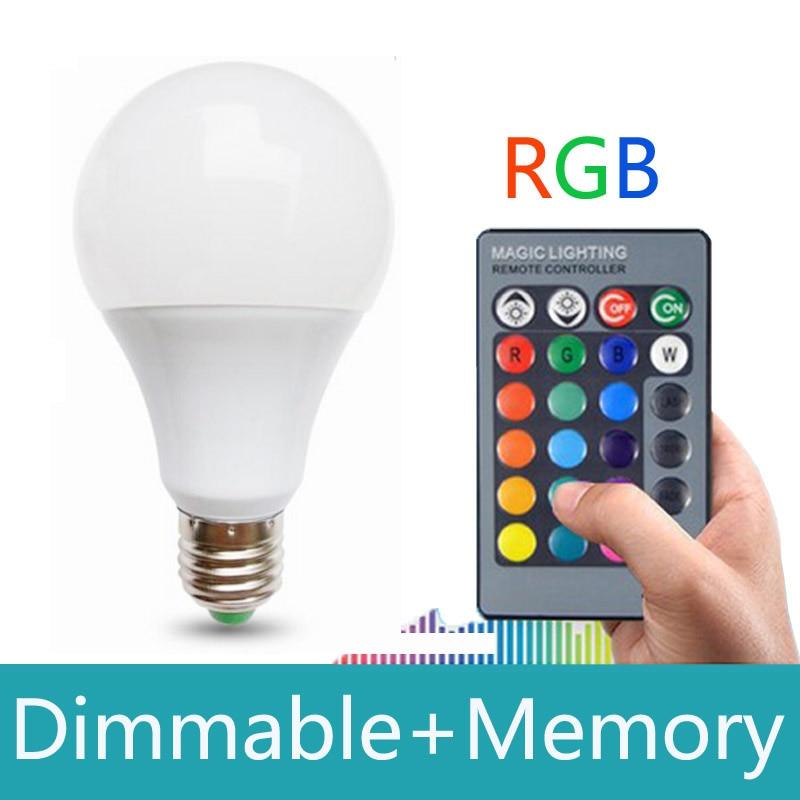 Led Rgb Bulb Lamp E27 Ac85265v 20w Rgb Led Spot Light Rgb Lightingremote Control 16 Colors Dimmable Lampada Led With Memory kopen