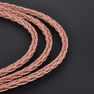 Image 5 - Liga do núcleo de hifihear 8 com cabo de cobre puro 2.5/3.5/4.4mm cabo equilibrado com conector mmcx/2pin para lz a6 as10 zs10 zs6 as10