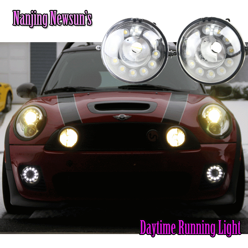 Brand New One Pair Led Daytime Running Light DRL Fog Lights For Bmw Mini Cooper R55 R56 R57 R58 R60 R61 12Leds Super Bright 12V набор приспособлений для обслуживания грм двигателя bmw n12 mini cooper jonnesway al010079