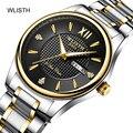 3bar WLISHI Mens Relógios Top Marca de Luxo Relogio masculino Moda Casual de Luxo Quartzo Ponteiros Luminosos do relógio de Dupla Afixação À Prova D' Água