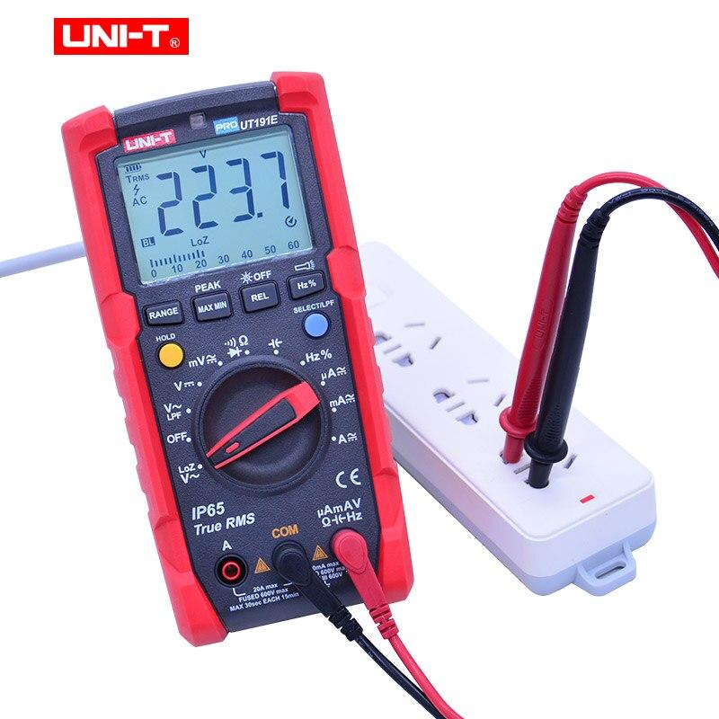 Multímetro Digital UNI T UT191E UT191T voltímetro de CA CC amperímetro ohmetro capacitancia frecuencia de ciclo de servicio diodo/prueba de continuidad - 3