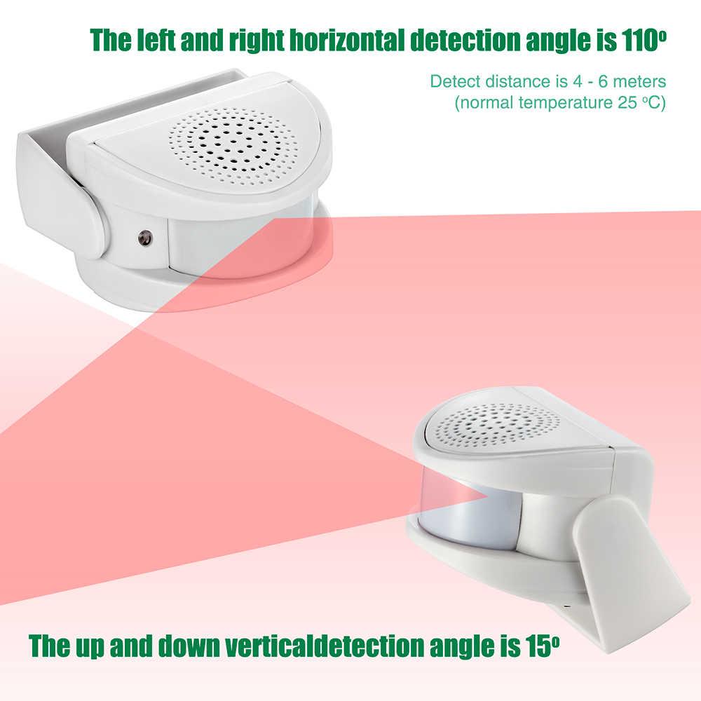 BKAUK Timbre de Puerta para Invitados con Sensor de Movimiento para Entrada en Tiendas Detector de Infrarrojos