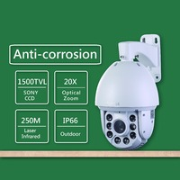 801 18X Zoom Outdoor 250m Laser IR CUT 1000 TVL HD PTZ CCTV Speed Dome Security