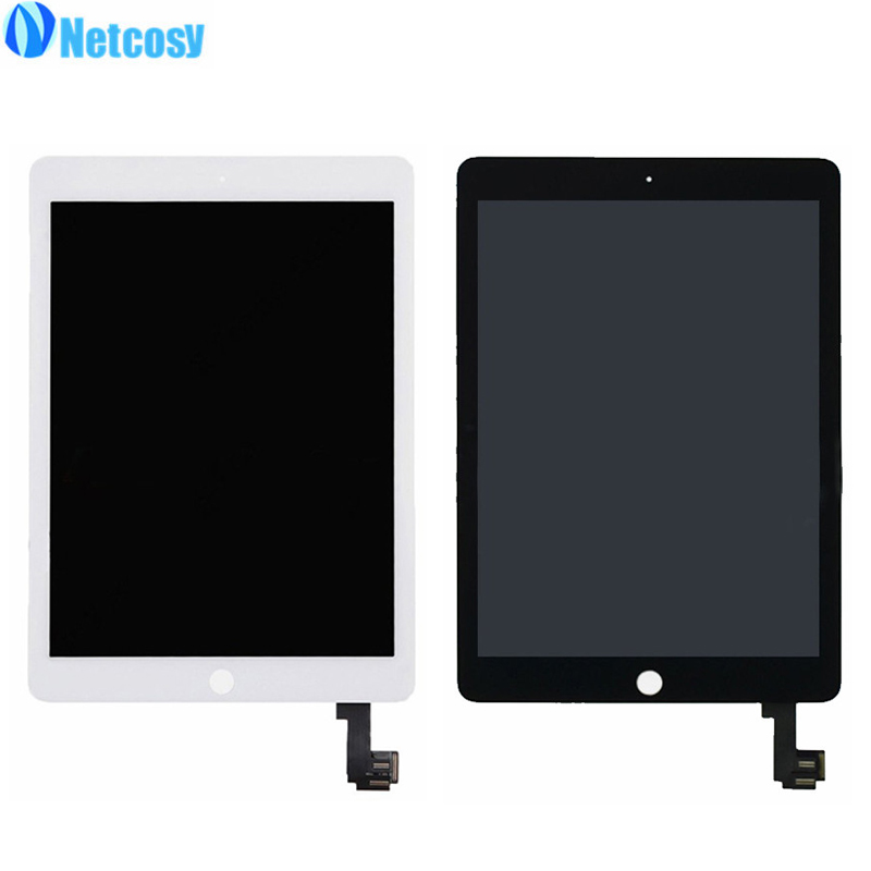Netcosy For iPad Air 2 A1567 A1566 LCD Screen High quality LCD display+Touch screen assembly Replacement parts for ipad 6/Air 2 high quality 9 7 for ipad air ipad 5 lcd display screen free shipping tracking code