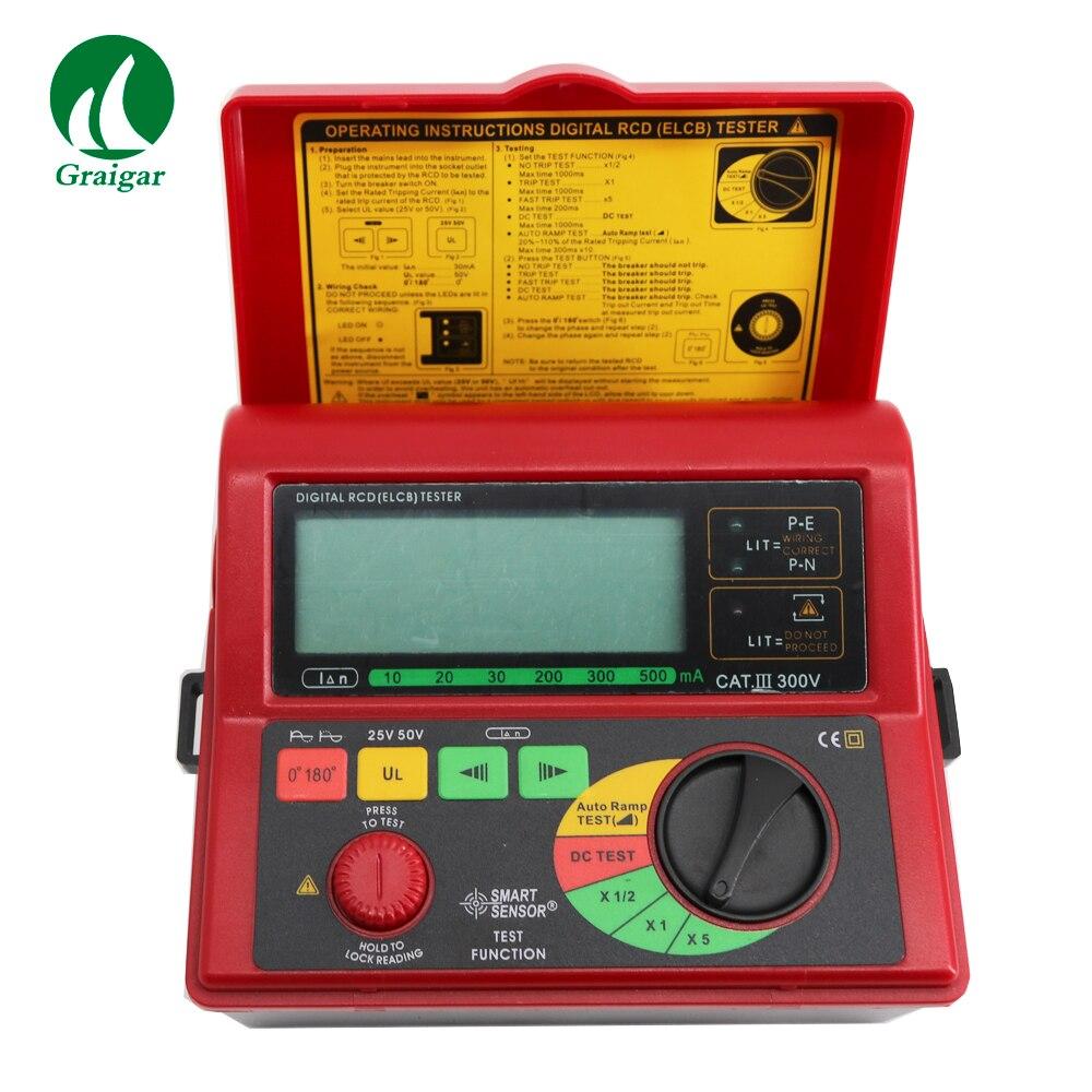 Capteur intelligent AR5406 testeur de commutateur de fuite numérique RCD ELCB testeur de courant de fuite Test 10/20/30/200/300/500mA