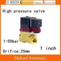 High temperature and high pressure steam valve 5404 08 1 inch 24V DC solenoid valve valve orifice 25mm