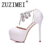 c4bcc04902 Fashion Women Pumps White Rhinestone High Heels Dreamlike Crystal Wedding  Shoes Party Shoes Christmas Shoes(