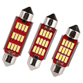 4pcs/lot DC12-24V 36mm 39mm 41mm Doom Lamp Led Bulb4014 SMD 12 LED Light Canbus Error Free Interior Festoon Pure White