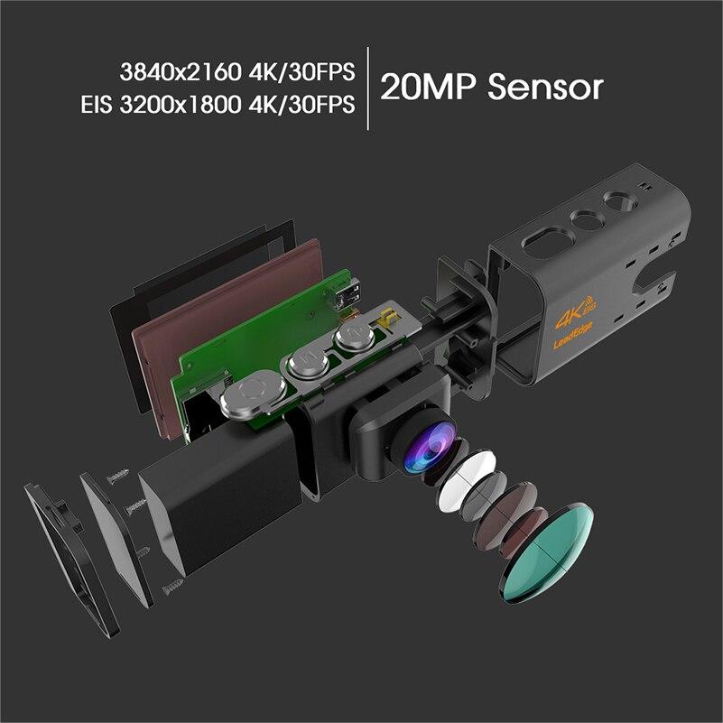 """LeadEdge LE7000 Экшн-камера 4 к 30fps 20MP EIS внешний микрофон WiFi 2,0 """"ЖК-дисплей водостойкий шлем подводная камера Спортивная камера"""