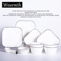 Wourmth Творческий керамика посуда 16 шт. отель Чаша плиты набор дома поднос для завтрака салатник японский подарок набор