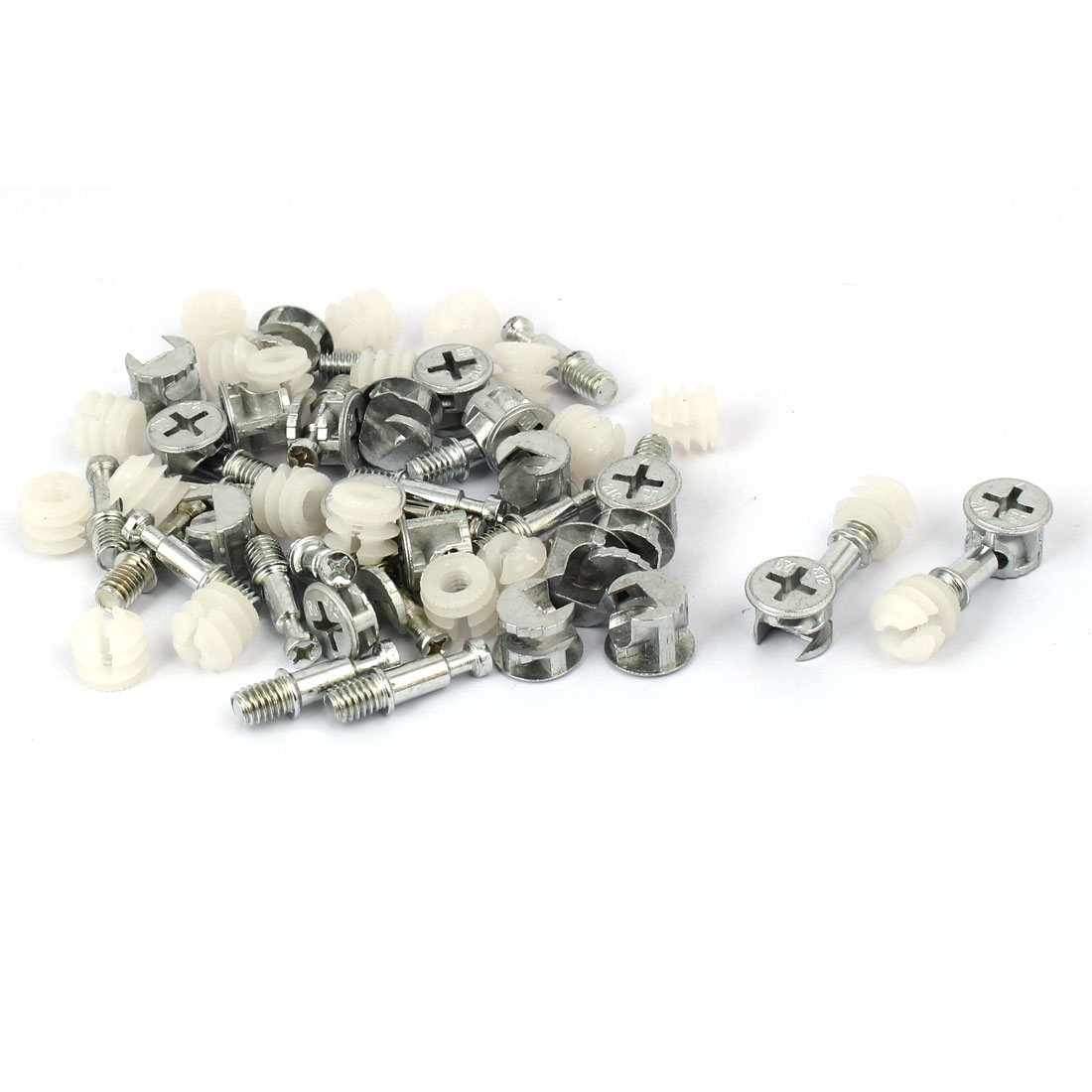 20 Sets Furniture Connecting Fitting Knock Down Furniture Cam LOCK Connecting Fitting Dowel Nut Assembly Cam Fitting/dowel/nut