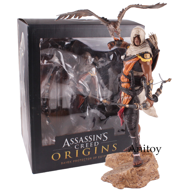 Assassins Creed Assassin 'S Creed Origines Bayek Protecteur con la sua aquila Action PVC Figure Model Toy Regalo 28 cm