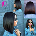 Peruvian Virgin Hair Straight Short Bob U Part Wigs Unprocessed 130Density U Part Human Hair Wigs For Black Women Middle Part