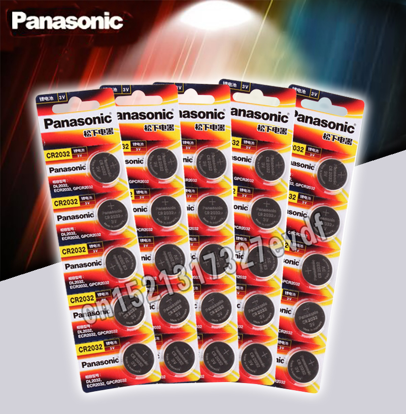 Panasonic Original 20pcs/lot Cr 2032 Button Cell Batteries 3V Coin Lithium Battery For Watch Remote Control Calculator Cr2032