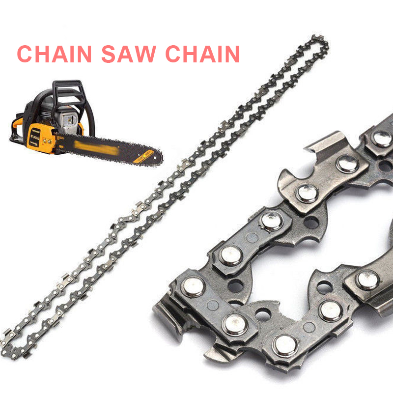 <font><b>Chainsaw</b></font> <font><b>Chain</b></font> Semi Chisel Replacement Accessories Garden <font><b>16</b></font> <font><b>Inch</b></font> 3/8 Professional Durable 55 Drive Link Tools Gear Cutting image