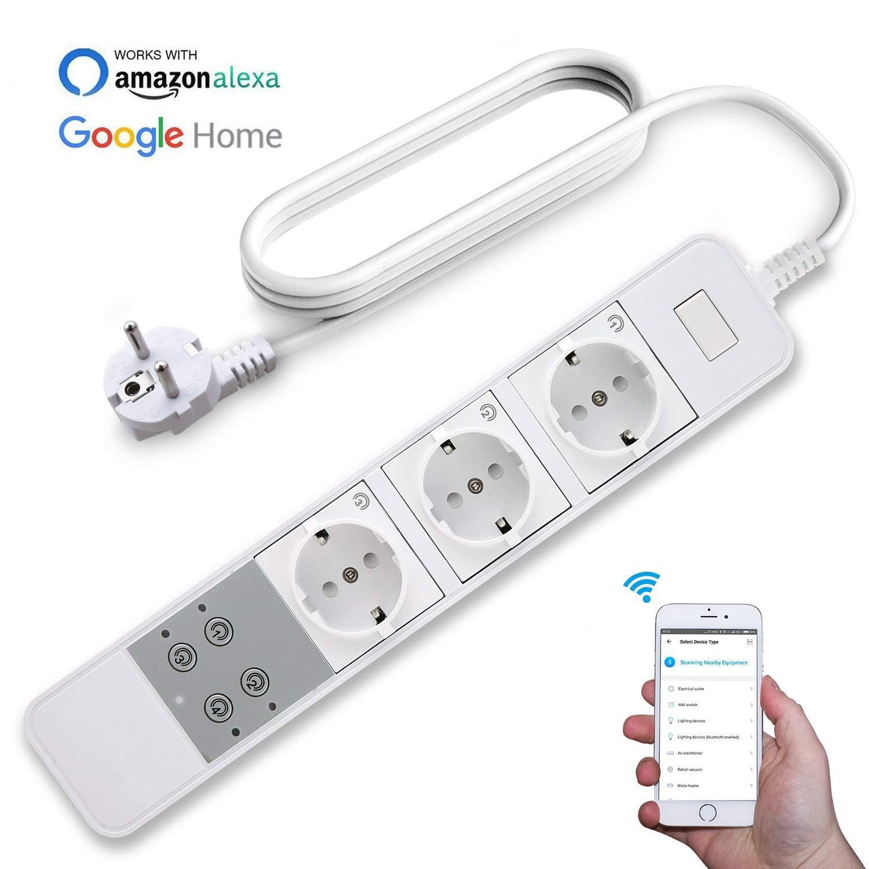 Мощность полосы интеллектуальные Wi-Fi Plug 3-выходы независимый голос Управление интегрированную защиту от перенапряжения синхронизации удал...