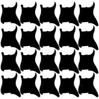 20*Black 3ply Guitar Pickguard Blank/Outline Scratch Plate for Strat replacement