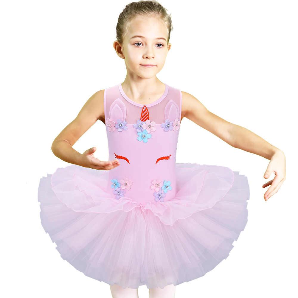 77c2427b3fc2 Detail Feedback Questions about BAOHULU Ballet Leotards Flower Girls  Unicorn Ballet Tutu Dress Pastel Ballerina Kids Birthday Party Unicorn Dress  Tutu ...